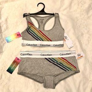 Calvin Klein Pride Edit, Bralette & Boyshort Set